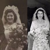 Sharing our 70th wedding anniversary with the Queen