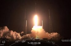 Lift off for SpaceX rocket carrying 60 satellites